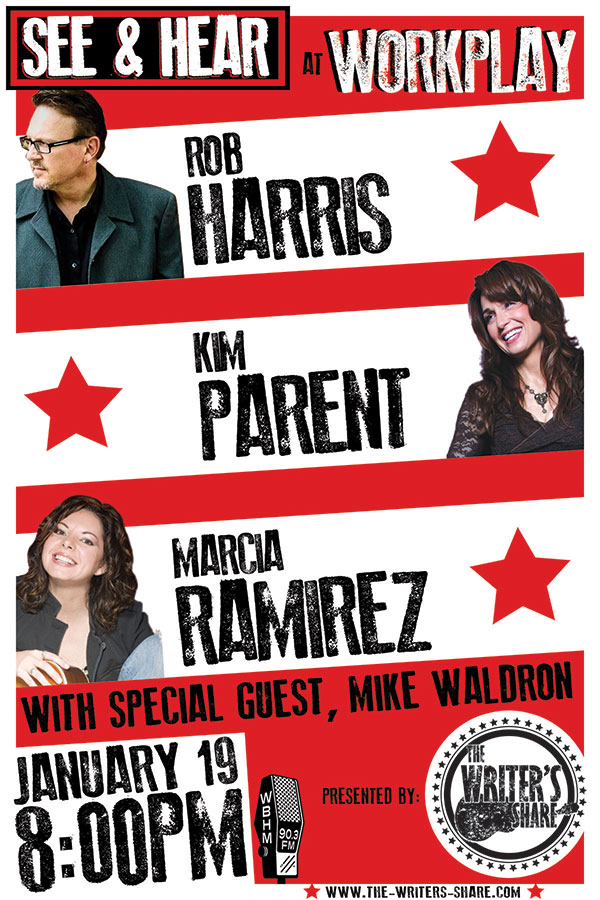 Marcia Ramirez, Kim Parent & Rob Harris – with special guest Mike Waldron