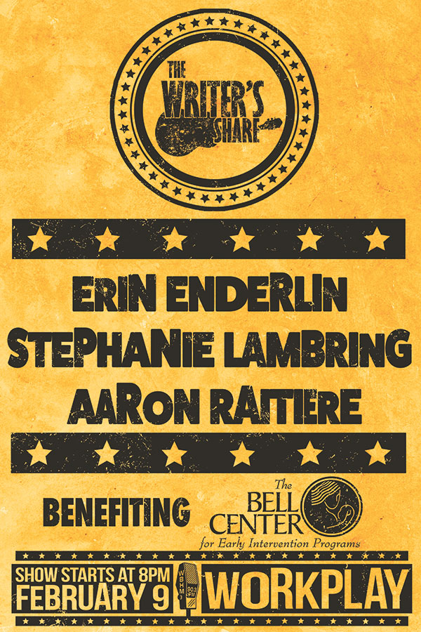 Erin Enderlin, Stephanie Lambring & Aaron Raitiere in a Benefit for The Bell Center
