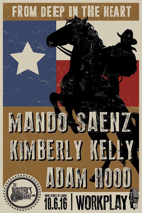 Mando Saenz, Kimberly Kelly and Adam Hood